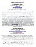Anxiety Disorder Resource