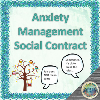 Anxiety Management Social Contract