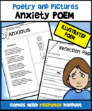 Anxiety Poem and Response Handout-Poems and Pictures FREEBIE!