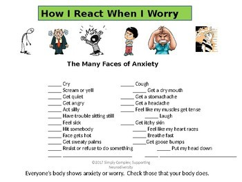 Anxiety Prevention Assessments and Exercises; Emotional Regulation