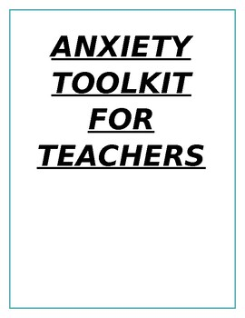 Anxiety Toolkit and Resources