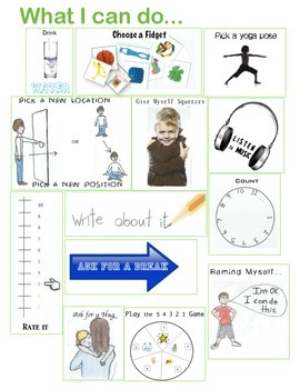 Anxiety - Visuals for in-School Coping Strategies - RESIZE