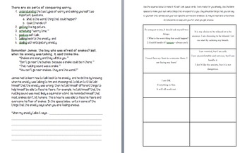 Anxiety Worksheets for Anxiety Free Kids (stress, worry, overwhelmed)