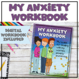 Anxiety | Worry | Stress Management Workbook and Digital A