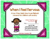 Anxiety and Nervousness Low Prep Flipbook
