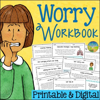 Anxiety and Worry Workbook - Distance Learning and Google Classroom