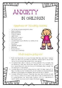 Anxiety in Children : Behavior Strategies