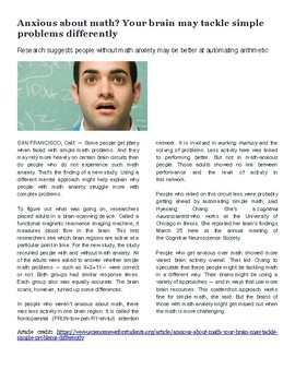 Anxious about math? Science Sub Emergency Lesson Plans