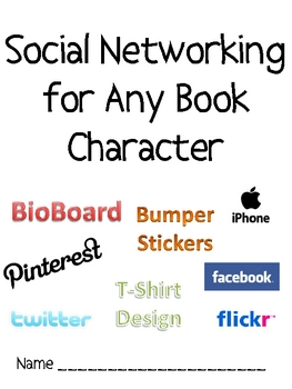 Any Book Character Project: Social Networking Pages