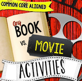 Any Book & Movie Comparison Reader's Notebook Activities CCSS RL.7