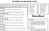 Any Grade Reading Syllabus (Editable)