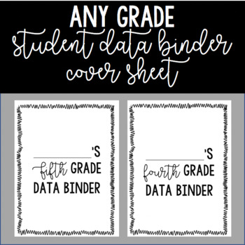 Any Grade Student Data Binder Cover