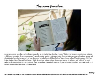 Any High School Class Procedures with Editable Brochure and Prezi