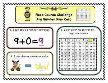 Any Number Plus Zero Race Course Challenge (Mystery Number is 100)