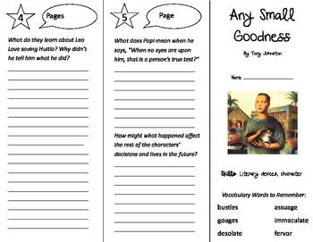 Any Small Goodness Trifold - Storytown 5th Grade Unit 5 Week 3