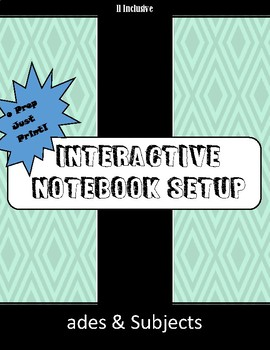 Any Subject Interactive Notebook Set Up