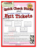 Free Exit Tickets Leveled for Any Subject and Quick Check