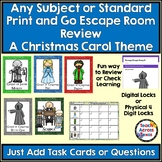 Any Subject or Standard Print & Go Escape Room Review A Christmas Carol Themed