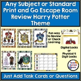 Any Subject or Standard Print & Go Escape Room Review Harry Potter Themed