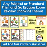 Any Subject or Standard Print & Go Escape Room Review Shopkins Themed