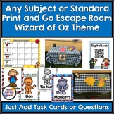 Any Subject or Standard Print & Go Escape Room Wizard of Oz Theme