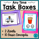 Any Time Task Cards for Special Education and Autism - Basic Concepts