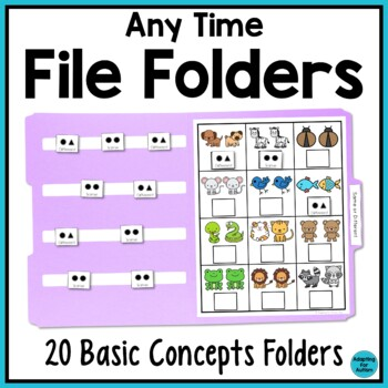 Any Time File Folder Activities: Basic Concepts (Special Education)