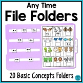 Any Time File Folder Activities for Special Education & Au