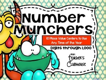 """""""Any Time Series""""  Number Munchers Centers Unit"""