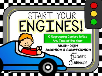 """""""Any Time Series"""" Start Your Engines! Regrouping Centers Unit"""