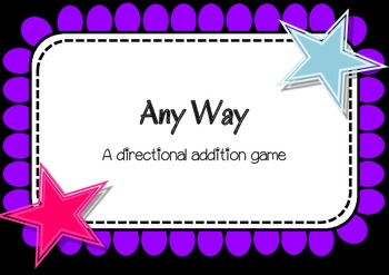 Any Way - A directional addition game