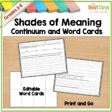 Shades of Meaning Continuum:  Any Word with Editable Word Cards