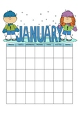Any Year Monthly Calendar Pages