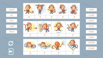 Any language computer game with verbs of action for kids