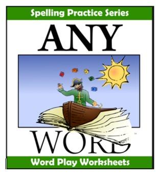 AnyWord Word Play Spelling Worksheets