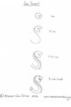 Anyone Can Draw Dragons and Sea Serpents