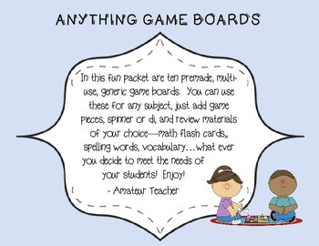 Anything Game Boards