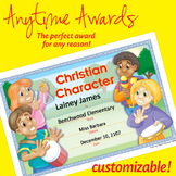 NSD6051 Christian Character Editable Anytime Award Certificates