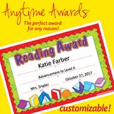 NSD6004 Reading Award Editable Anytime Award Certificates
