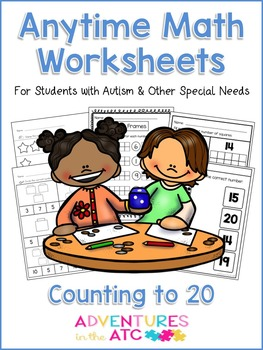 Anytime Math Worksheets - Counting to 20