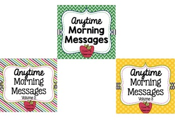Anytime Morning Messages BUNDLE {Community Building Prompts}