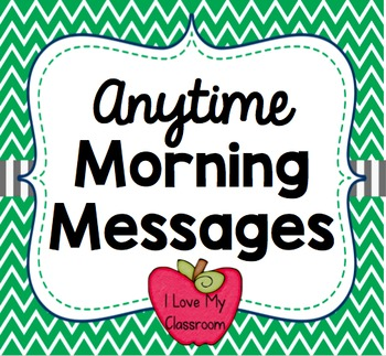 Anytime Morning Messages {Community Building Prompts}