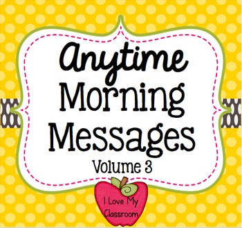 Anytime Morning Messages Version Three {Community Building Prompts}