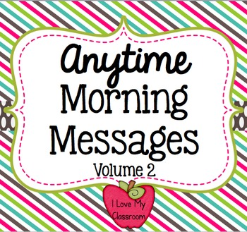 Anytime Morning Messages Version Two {Community Building Prompts}