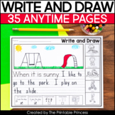 Anytime No Prep Writing Prompts for Kindergarten