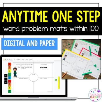 Anytime One Step Word Problems within 100!