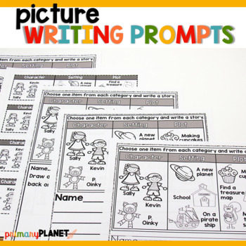 Picture Writing Prompts with Spelling Supports and Choice Anytime Pick a Prompt.