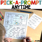 Picture Writing Prompts with Spelling Supports and Choice