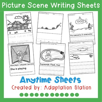 Anytime Picture Scene Writing Sheets
