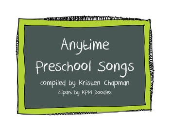 Anytime Preschool Songs - At a Glance
